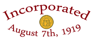 Incorporated August 7th, 1919 Seal